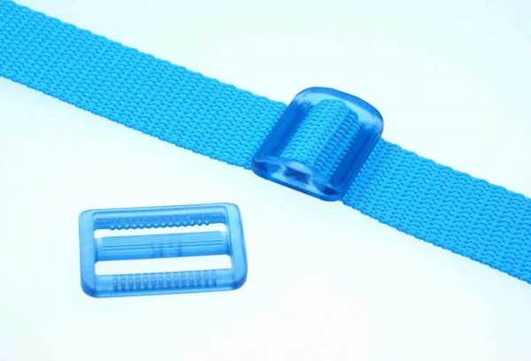 30mm strap adjuster - turquoise transparent - 5 pieces