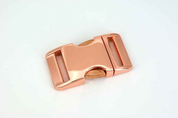buckle made of aluminium for 15mm wide webbing - rose gold - 1 piece