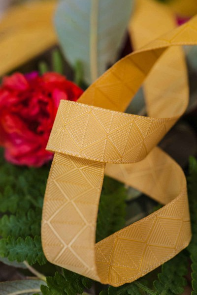 1m webbing Design by Lila-Lotta - 15mm wide, forest yellow