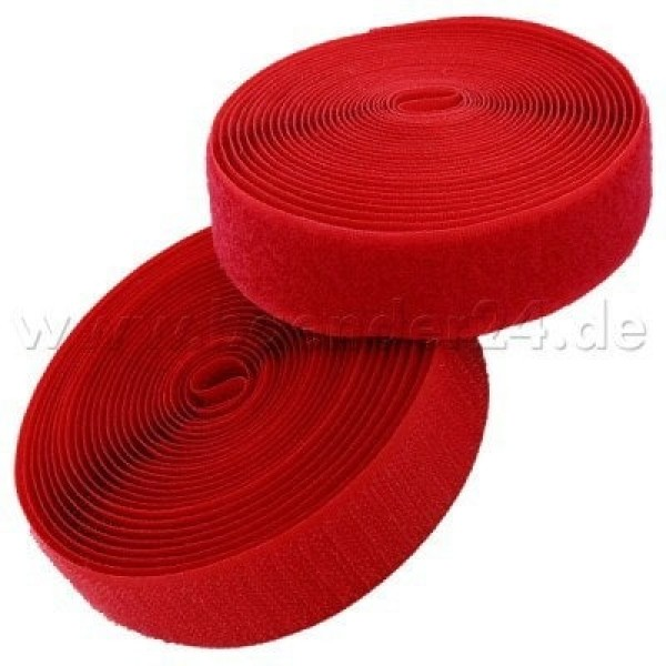 4m Velcro (Velcro & Hook) 25mm wide, color: red - for sewing