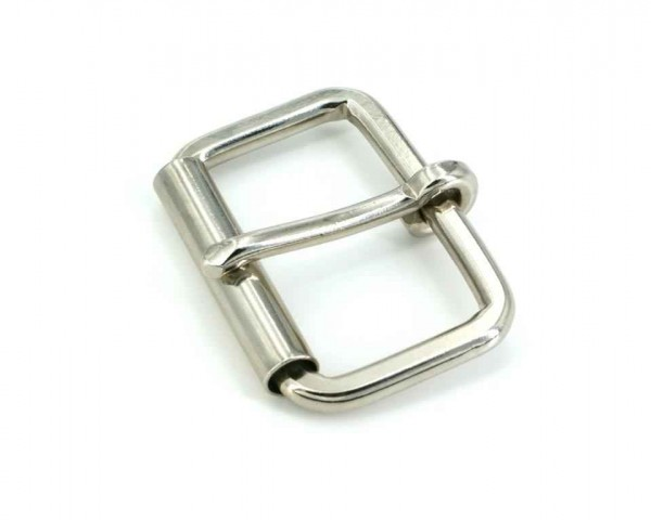 Roll buckle made of round steel, for 40mm wide webbing