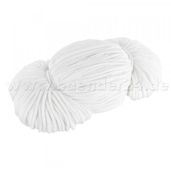 2mm thick polyester cord - 100m length - color: white