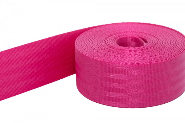 1m safety webbing pink made of polyamide, 48mm wide - load capacity: up to 2t