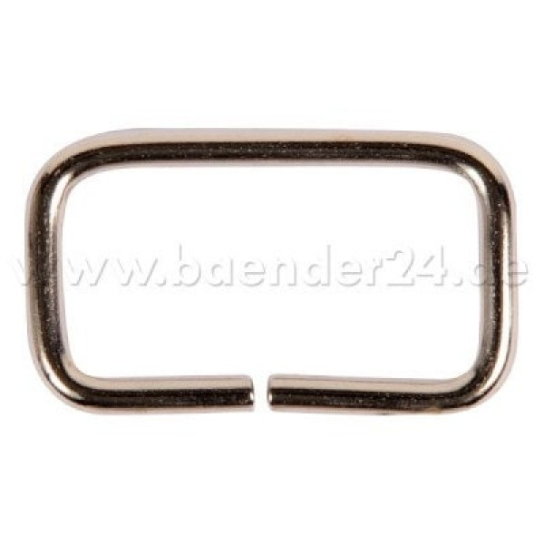 square ring - steel nickel-plated - 30mm hole - 18mm height - non-welded - 1 piece