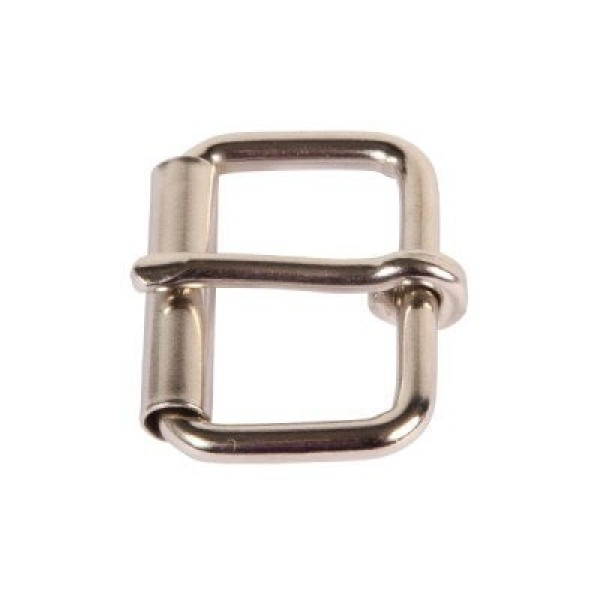 roll buckle made of round steel, for 15mm wide webbing