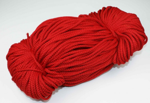 2mm thick polyester cord - 100m length - color: red