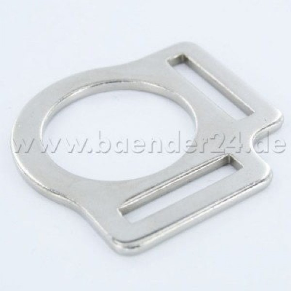 head collar ring made of steel for 25mm wide webbing - 1 piece