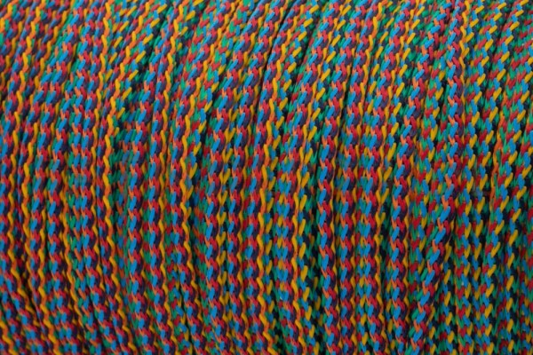 50m PP-String - 3mm thick - color: multicolor (UV)