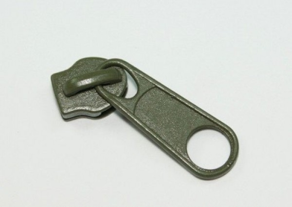 Slider for slide fastener with 8mm rail, color: khaki - 10 pieces
