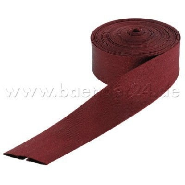edge binding made of polyester, 20mm wide, color: wine red - 10m roll
