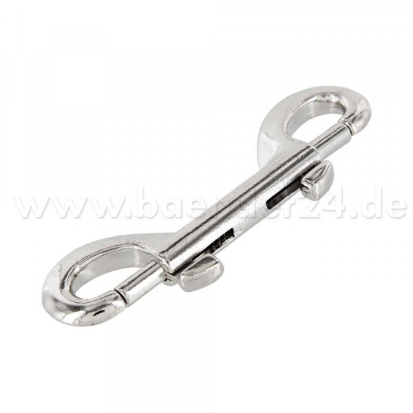 double carabiner - zinc die casting - 11,9cm long - 10 pieces