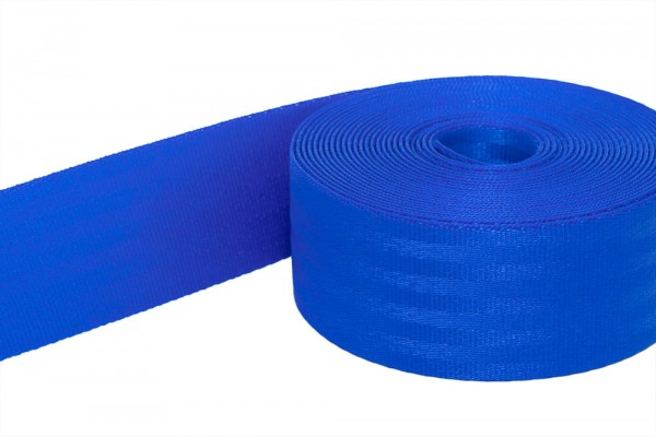 1m safety webbing blue made of polyamide - 25mm wide - load capacity: up to 1t