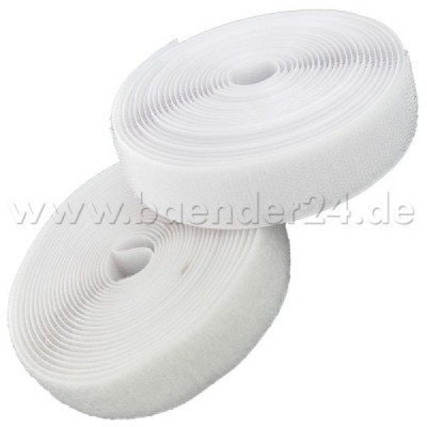 4m Velcro (Velcro & Hook) 40mm wide, color: white - for sewing